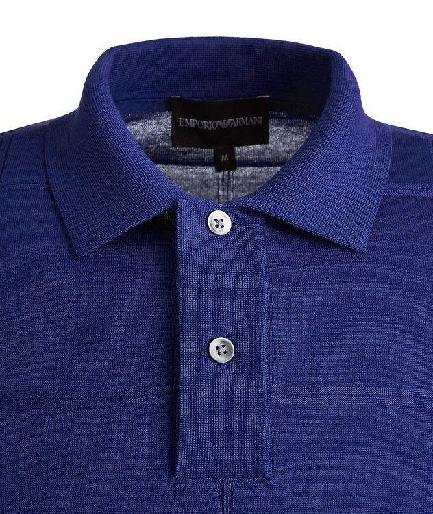 Long Sleeve Virgin Wool Polo picture 3