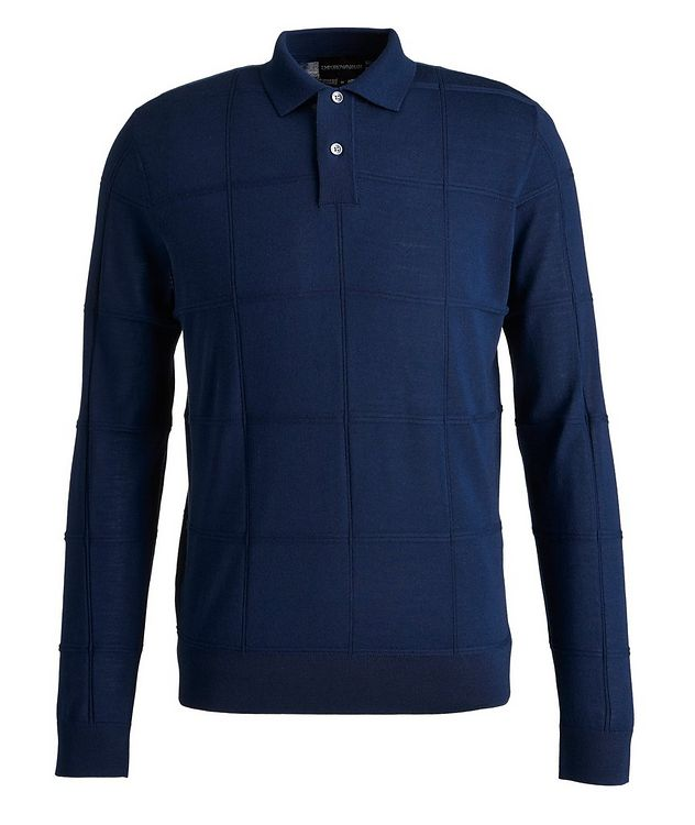 Long Sleeve Virgin Wool Polo picture 1