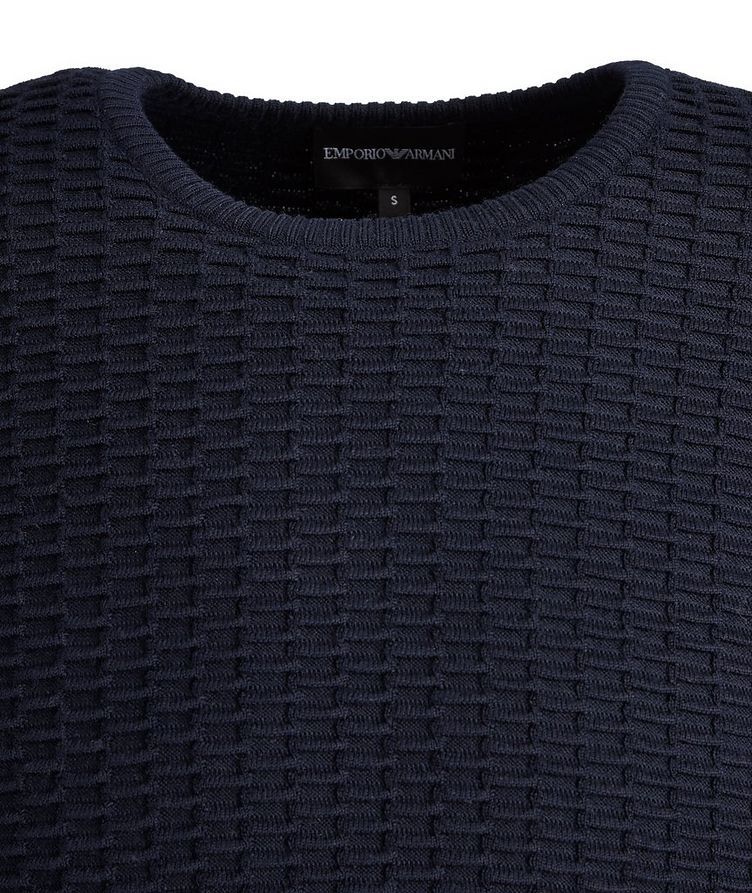 Textured Knit Wool-Blend Sweater image 2