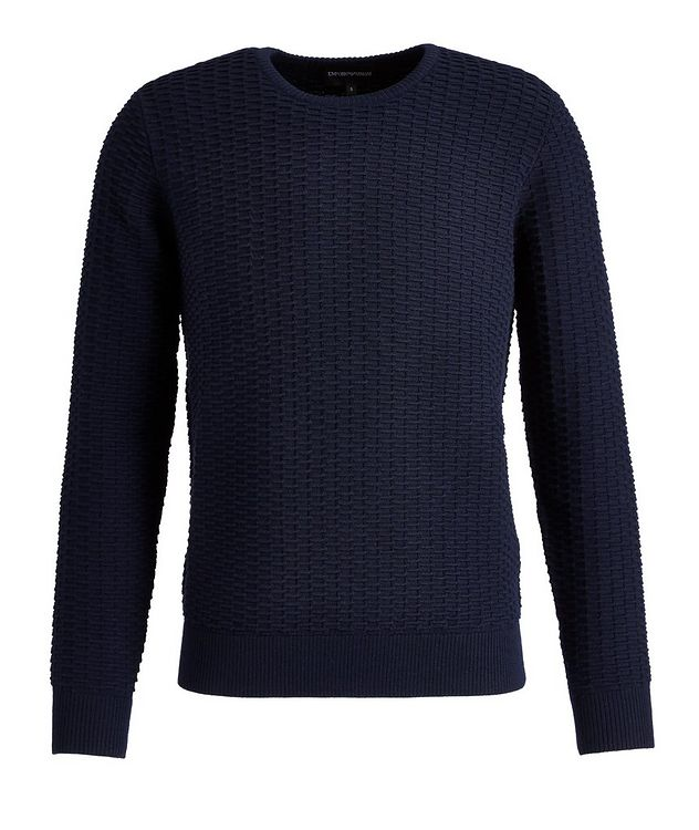 Textured Knit Wool-Blend Sweater picture 1