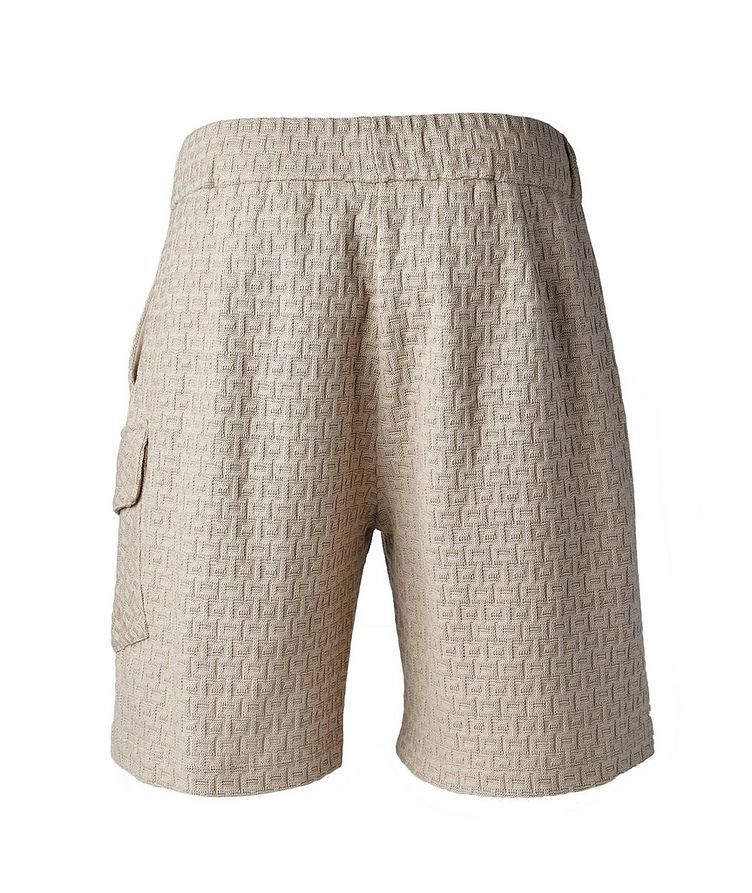Textured Knit Cotton Shorts image 1