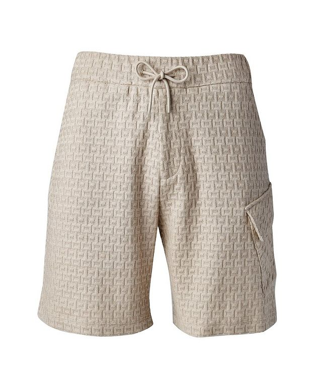 Textured Knit Cotton Shorts picture 1