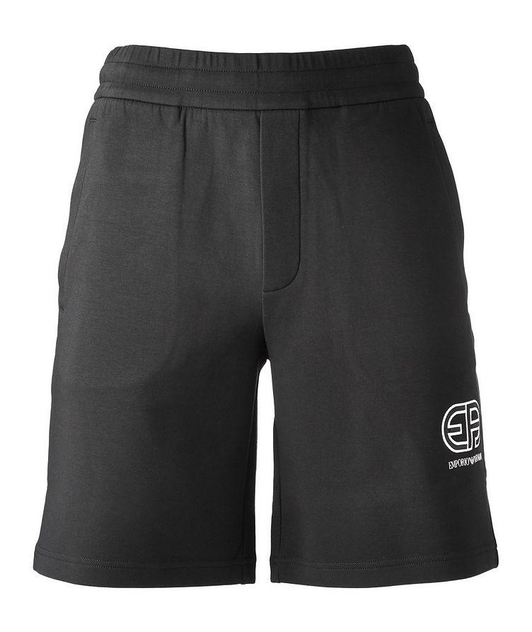 Stretch-Cotton Logo Shorts image 0