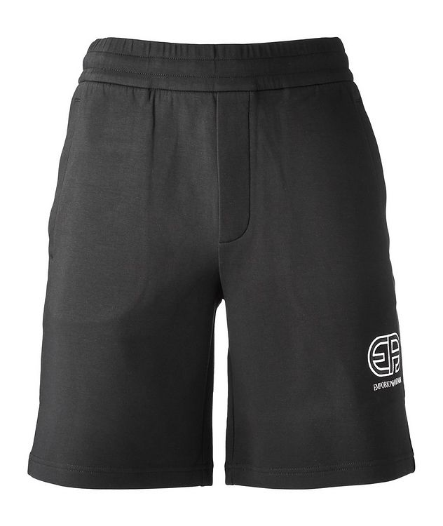 Stretch-Cotton Logo Shorts picture 1