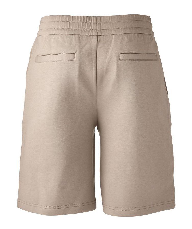 Stretch-Cotton Logo Shorts image 1