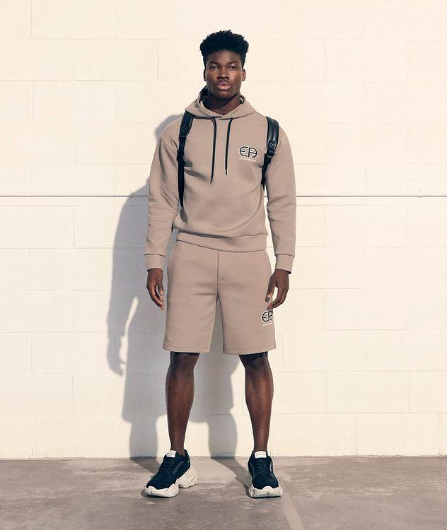 Stretch-Cotton Logo Shorts picture 3