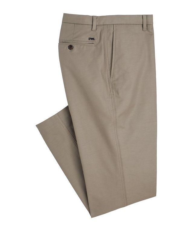 Slim-Fit Stretch-Cotton Dress Pants picture 1