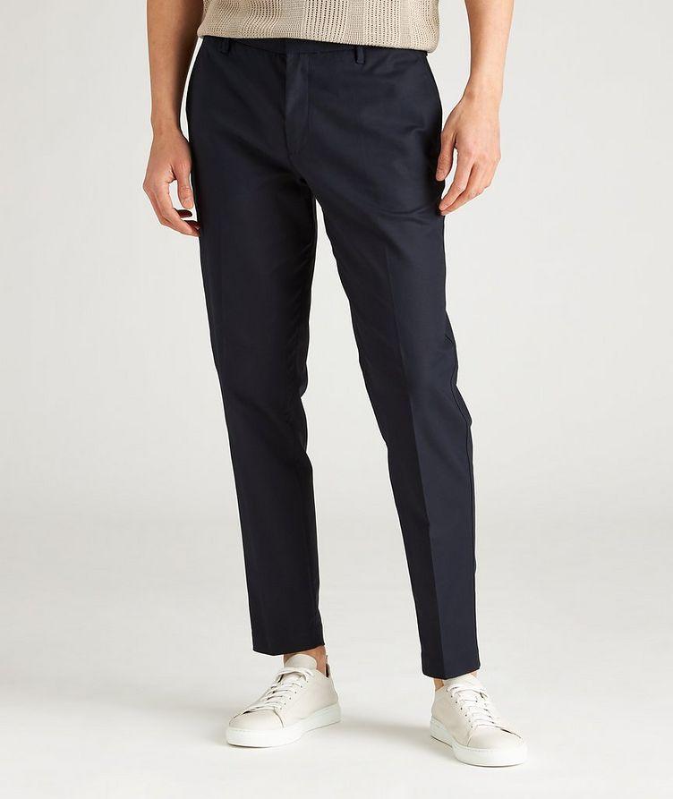 Slim-Fit Stretch-Cotton Dress Pants image 1