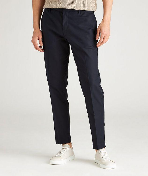 Slim-Fit Stretch-Cotton Dress Pants picture 2