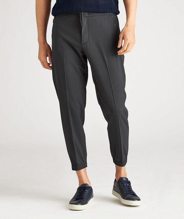 Drawstring Stretch-Wool Dress Pants picture 2