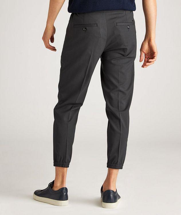 Drawstring Stretch-Wool Dress Pants picture 3