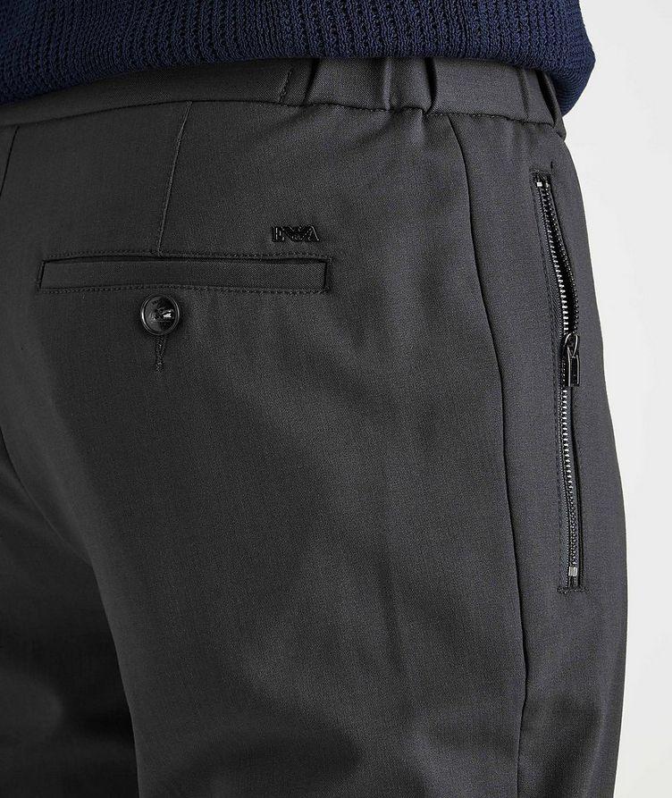 Drawstring Stretch-Wool Dress Pants image 3