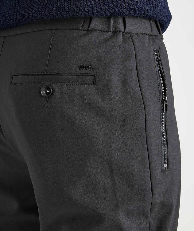 Drawstring Stretch-Wool Dress Pants picture 4