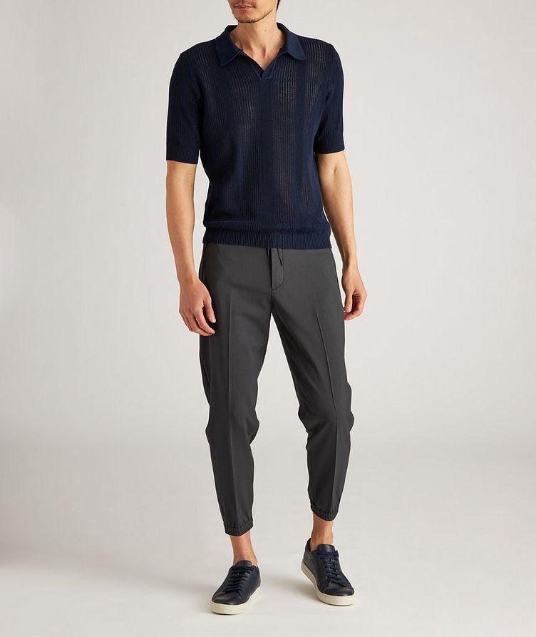Drawstring Stretch-Wool Dress Pants image 4