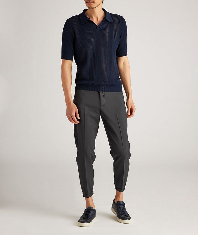 Drawstring Stretch-Wool Dress Pants picture 5
