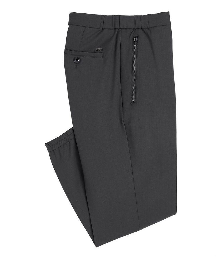Drawstring Stretch-Wool Dress Pants image 0