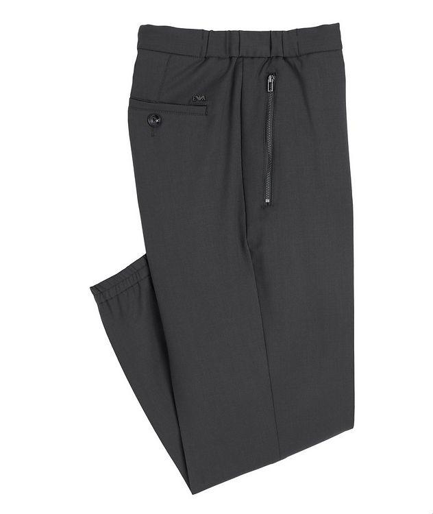 Drawstring Stretch-Wool Dress Pants picture 1