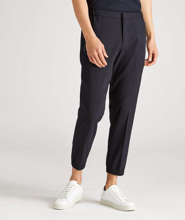 Pantalon habillé en laine extensible à cordon image 1