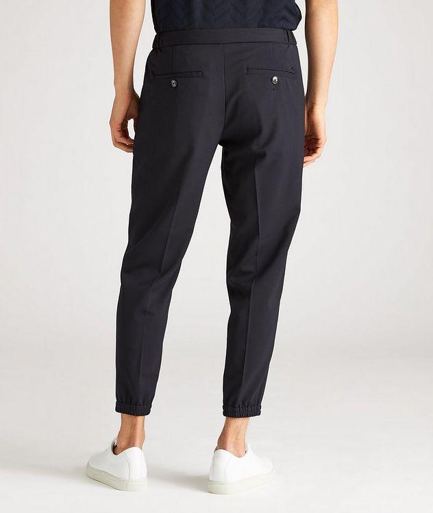 Pantalon habillé en laine extensible à cordon picture 3