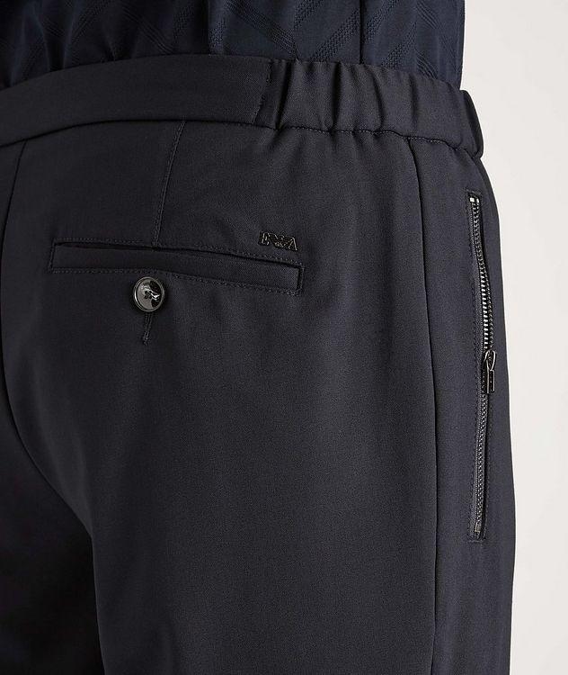 Pantalon habillé en laine extensible à cordon picture 4