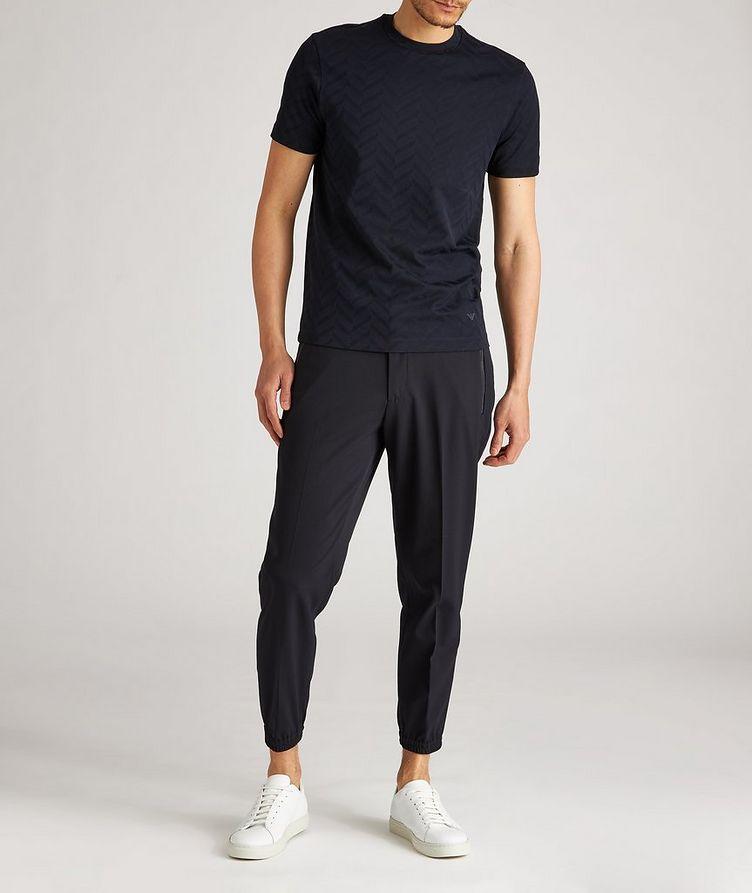 Pantalon habillé en laine extensible à cordon image 4