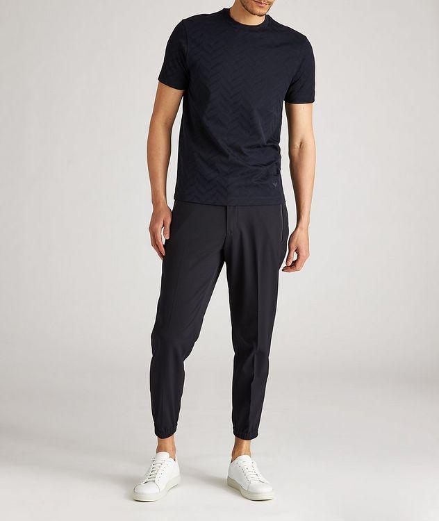 Pantalon habillé en laine extensible à cordon picture 5