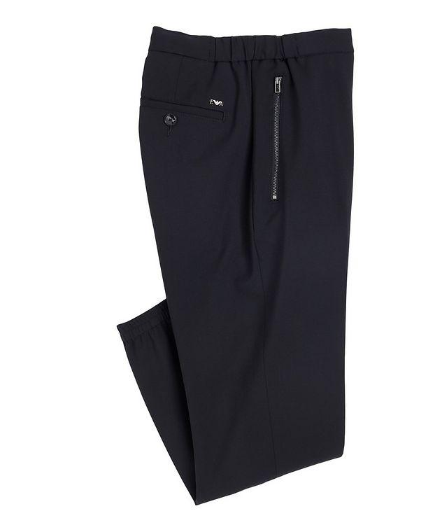 Pantalon habillé en laine extensible à cordon picture 1