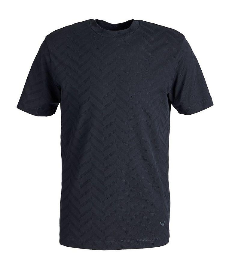 T-shirt en coton à motif de chevrons image 0