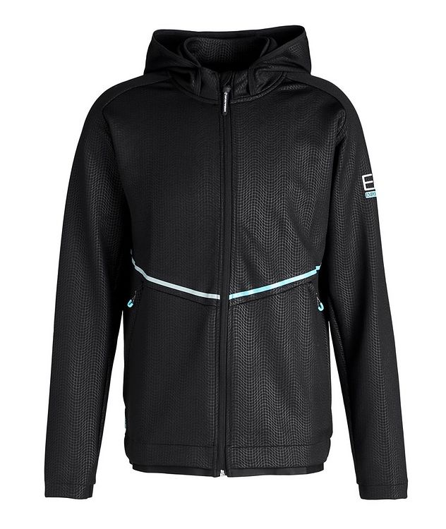 Stretch Knit Hooded Jacket picture 1