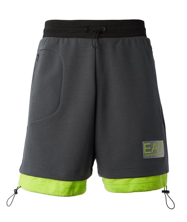 Cotton-Blend Jersey Bermuda Shorts picture 1