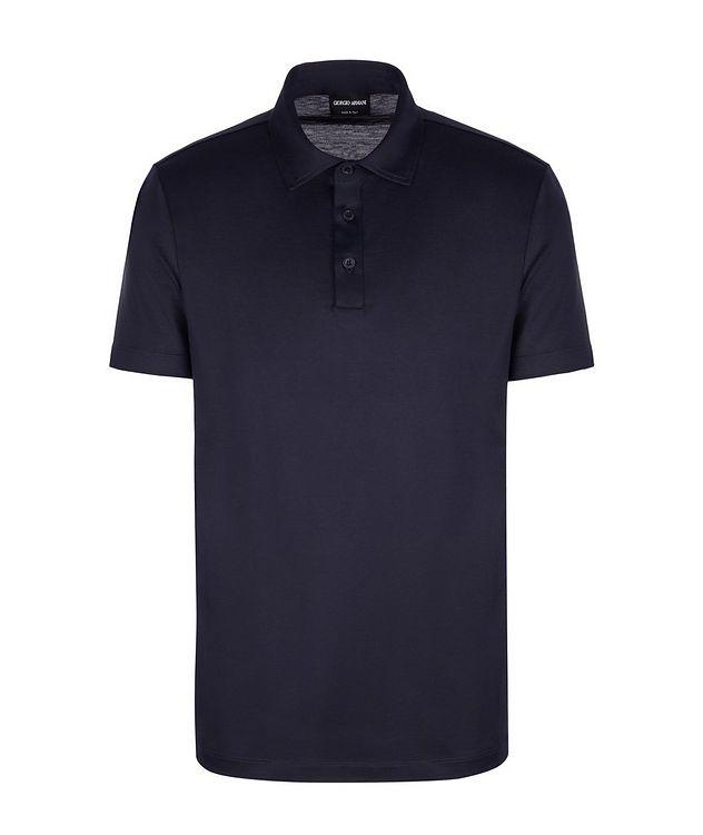 Slim-Fit Silk-Cotton Polo picture 1