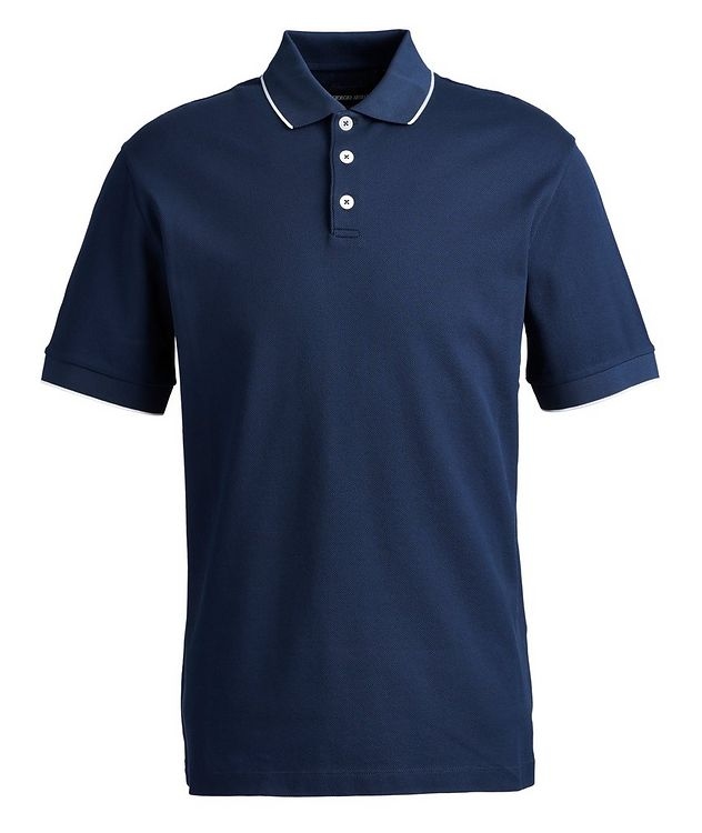 Ribbed Cotton Polo picture 1