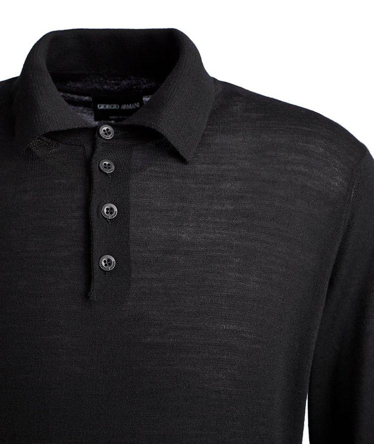 Long-Sleeve Wool Polo image 1