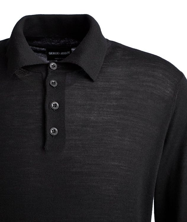 Long-Sleeve Wool Polo picture 2