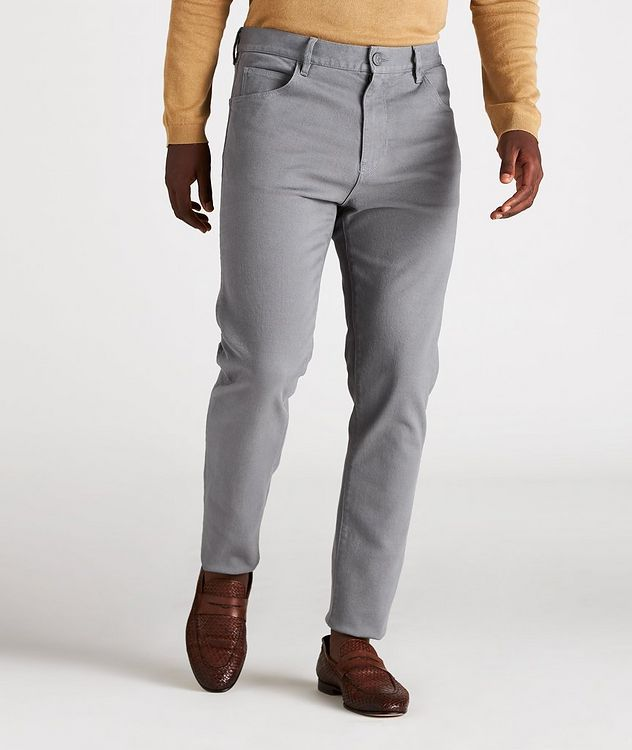J25 Tapered-Fit Stretch Cotton-Lyocell Jeans picture 2