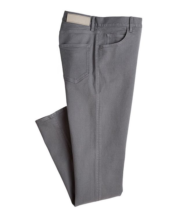J25 Tapered-Fit Stretch Cotton-Lyocell Jeans picture 1
