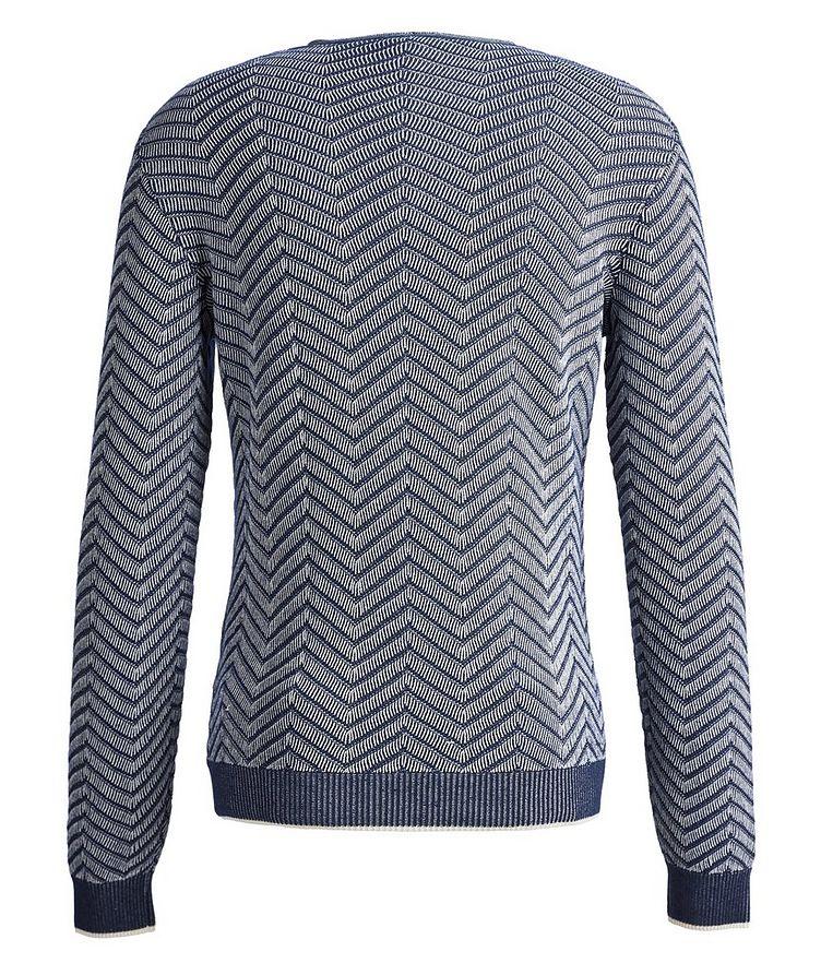 Chevron Cashmere-Silk Sweater image 1