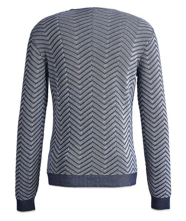 Chevron Cashmere-Silk Sweater picture 2
