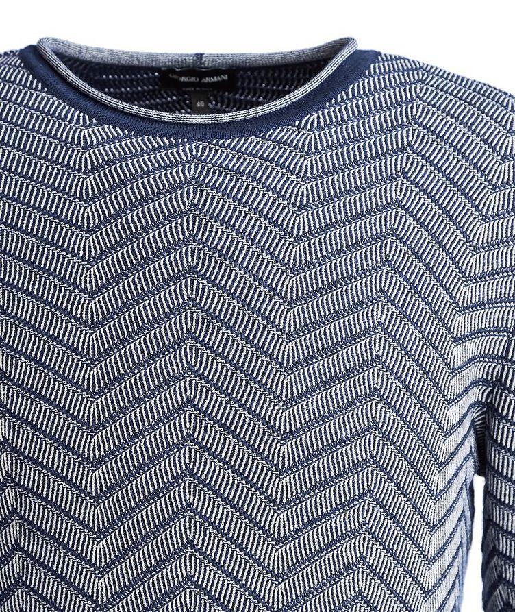 Chevron Cashmere-Silk Sweater image 2