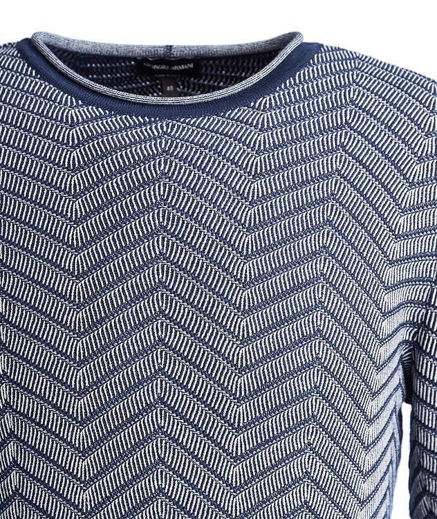 Chevron Cashmere-Silk Sweater picture 3