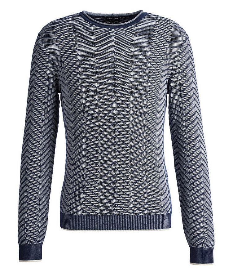 Chevron Cashmere-Silk Sweater image 0