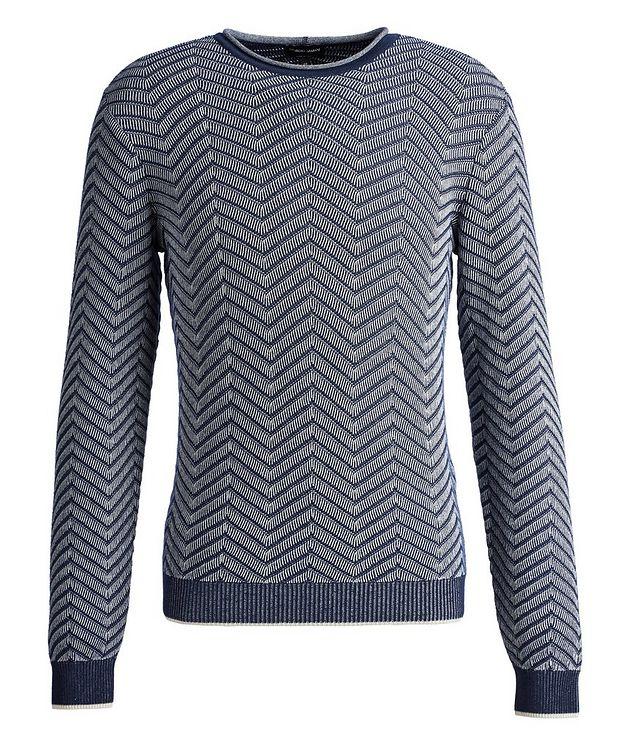Chevron Cashmere-Silk Sweater picture 1