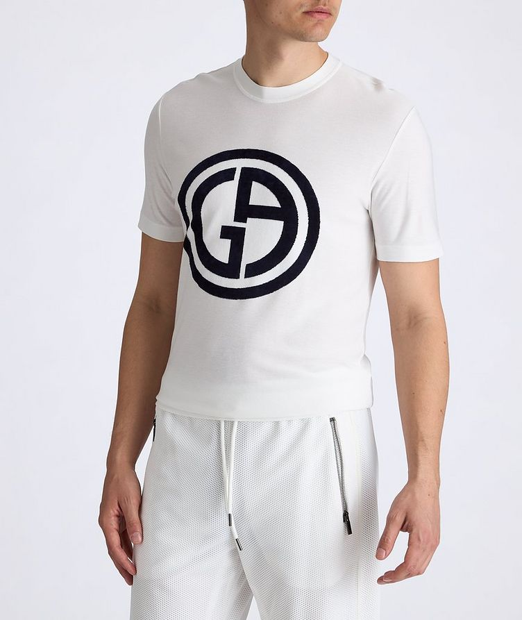 Slim-Fit Logo Knit T-Shirt image 2