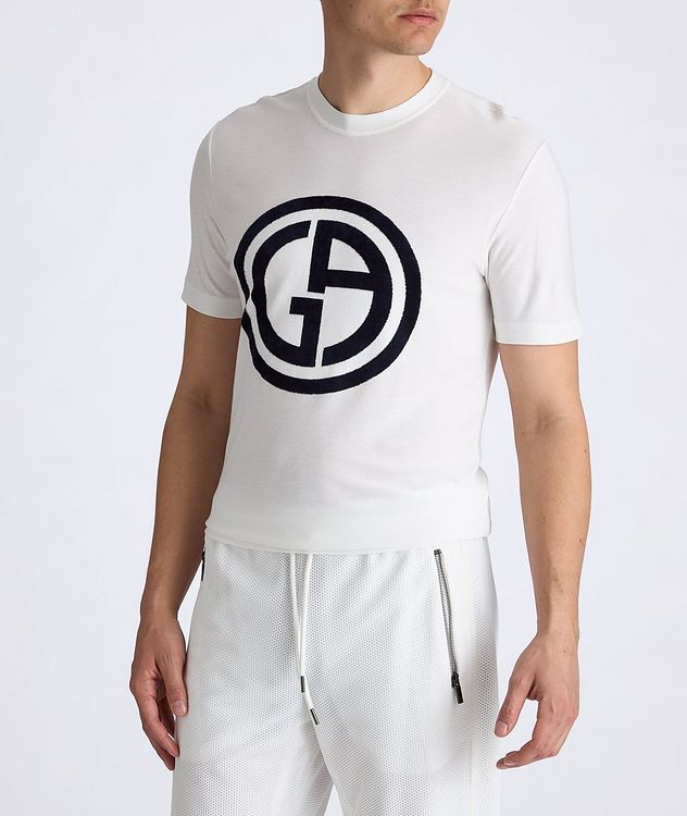 Slim-Fit Logo Knit T-Shirt picture 3