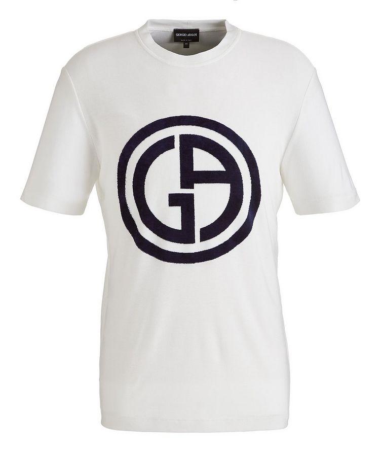Slim-Fit Logo Knit T-Shirt image 0