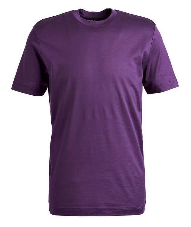 Slim-Fit Silk-Cotton T-Shirt picture 1