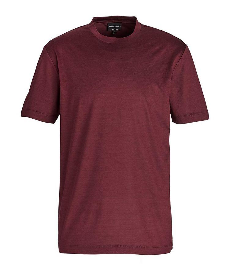 Slim-Fit Silk-Cotton T-Shirt image 0