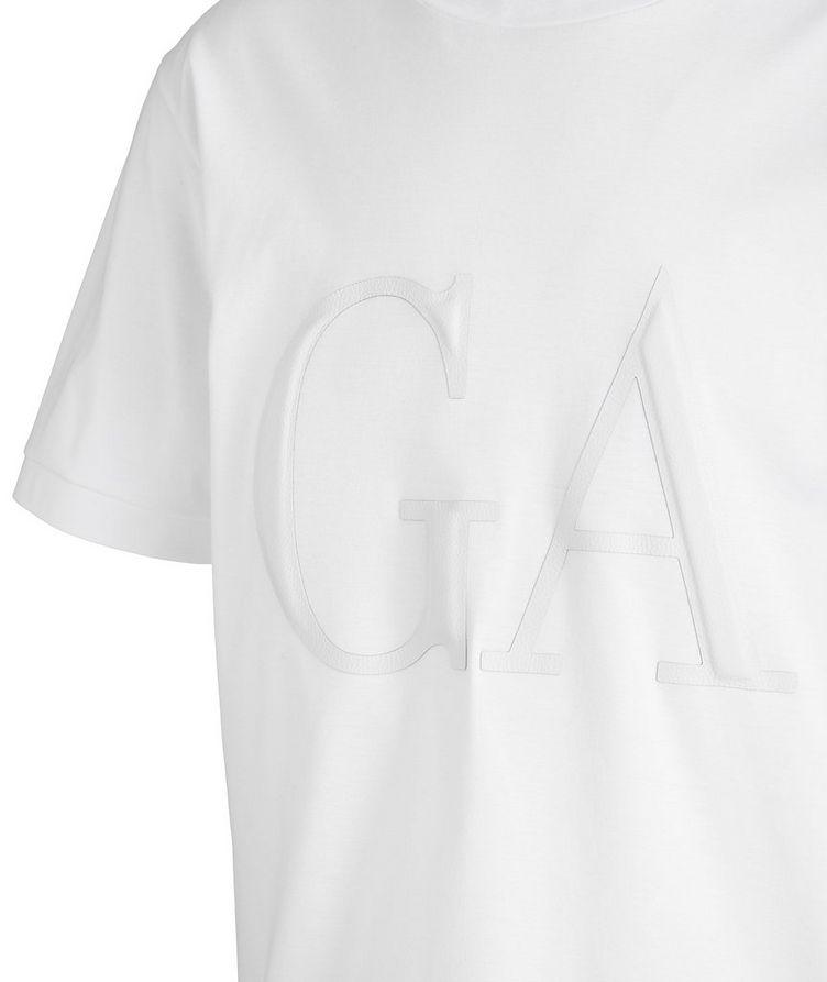 Leather Logo Cotton T-Shirt image 1