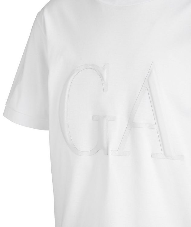 Leather Logo Cotton T-Shirt picture 2