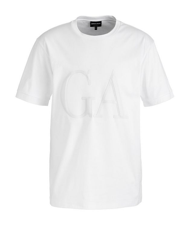 Leather Logo Cotton T-Shirt picture 1